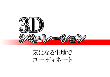 3Dミュレーション 気になる生地でコーディネート